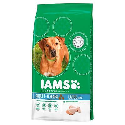 Iams Adult Large Breed Chicken Dry Dog Food - 12kg