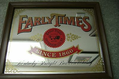 Early Times Bourbon Whisky Bar Mirror Sign