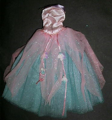 Barbie, Sindy, My Scene doll clothes: Pink, blue long dress, fairy ball gown?