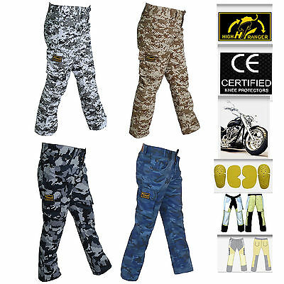 Women Motorbike Camouflage Trousers pants Reinforced with DuPont™ Kevlar® fiber