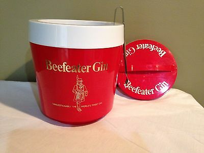 BEEFEATER Gin Promotional Ice Bucket Made in England 1970's Bar ware