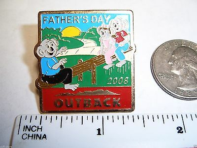Outback Steakhouse Lapel Pin Hat Pin Outback Fathers Day 2008