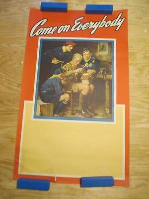 Vintage Original 1940's Publicity Poster Boy Scouts of America Norman Rockwell