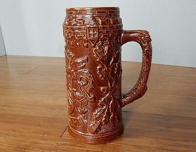 "Vintage Stein Beer Mug FRANKFURT Germany 4 ORIGINAL KING 7 1/4"" H X 3 1/2"" Base"