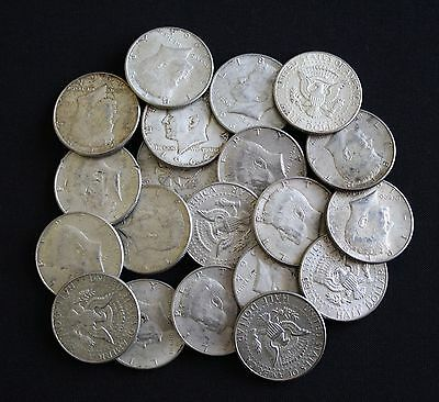 Roll of Junk Silver Kennedy Half Dollars - 20 Coins- 90% Silver- $10 Face