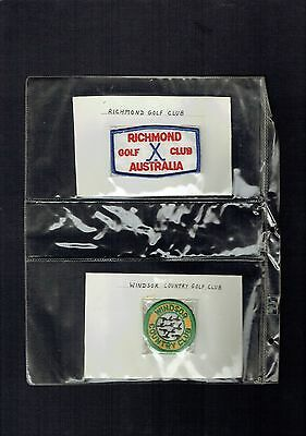 #ee.  Collection Of 20 Australian  Golf Cloth Patches