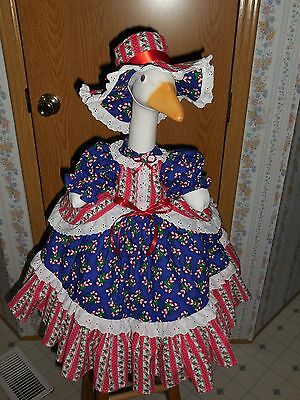"""Goose Clothes   """"Christmas Dress""""  Outfit by Karen"""