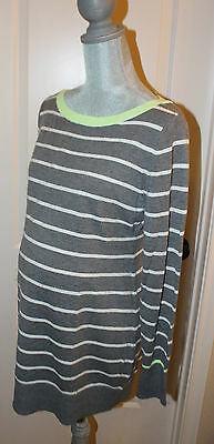 NWT GAP Maternity Striped Gray & White Sweater Size Large