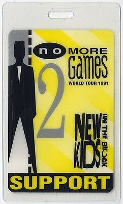 New Kids on the Block authentic 1991 tour Laminated Backstage Pass