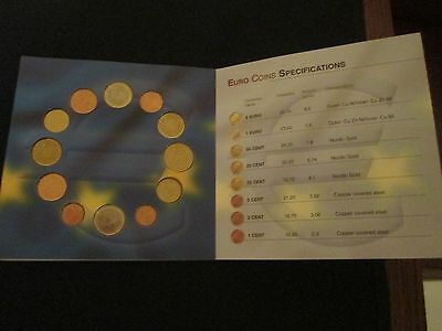 """""""The United States of Europe"""" EURO coin set collection! 1st Euros of ea. country"""