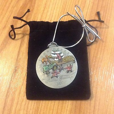 1997 John Deere Pewter Christmas Ornament Special Edition