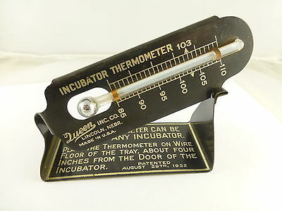 Vintage Queen Inc Incubator Thermometer Patent 1922 Lincoln NE MINT!!!!