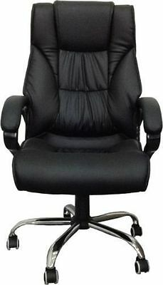 New High Back Leather Executive Office Desk Computer Chair w/Metal Base 3075