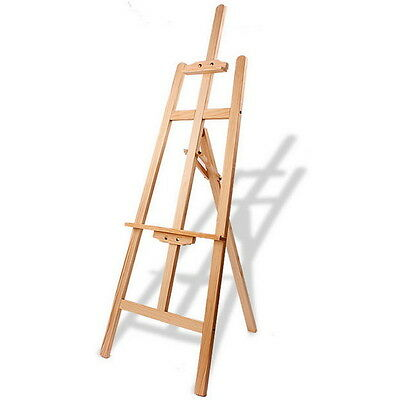 Studio Easel 5ft (1500MM HIGH) Artist Art Craft Display - Pine Wood Wooden #QW に