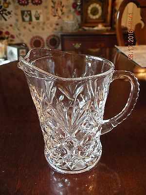 Vintage Brilliant Deep Cut Pressed Cut Glass Syrup Pitcher