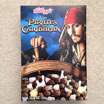 Kellogg's Pirates of the Caribbean Sealed Cereal Box  2006 Rare