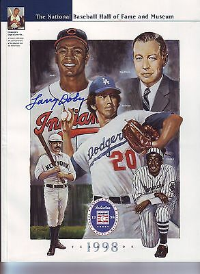 LARRY DOBY SIGNED 1998 HALL OF FAME YEARBOOK DON SUTTON LEE MacPHAIL ROGAN DAVIS