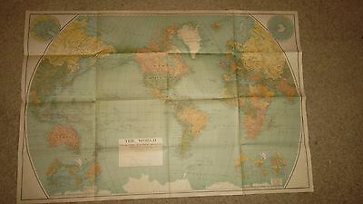 1932 Map of The World -  38 x 24  inches  -  Nat. Geo. Society