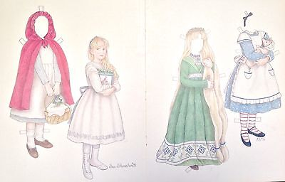 Fairy Tales Paper Doll by Sue Shanahan, 1994 Mag. Color Plate, 1990