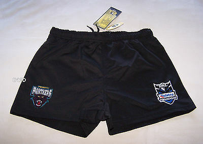 Penrith Panthers NRL Boys Black Embroidered Rugby Shorts Size 16 New