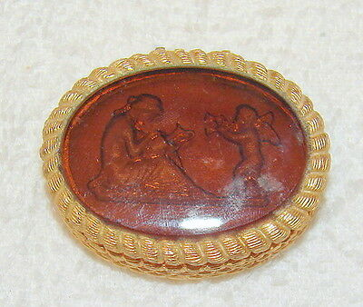"""Vintage Corday Golden Intaglio Solid Perfume Full-- Label Intact-- """"Possession"""""""