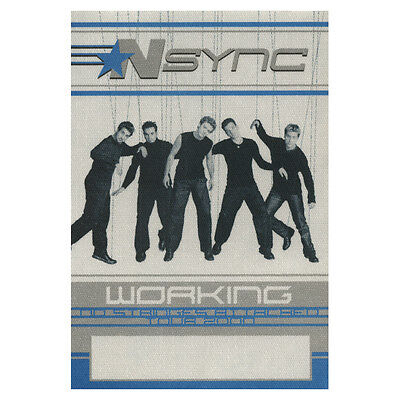 NSYNC authentic Working 2000 tour Backstage Pass