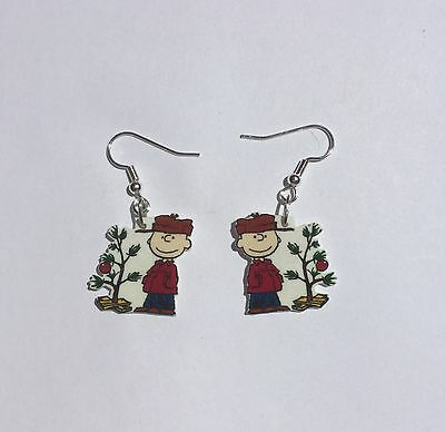 Charlie Brown Christmas Tree Earrings Charms