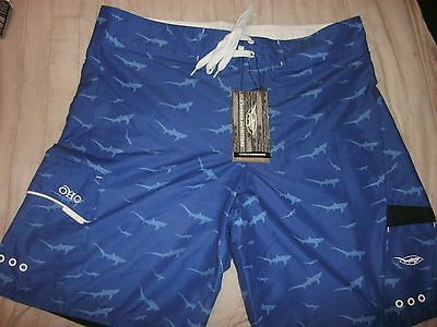 NEW Old Harbor Outfitters Schoolie Boardshorts, Size 40 Prepriced $59.95 SHARKS!