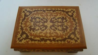 Reuge Inlaid Wood Musical Jewelry Box