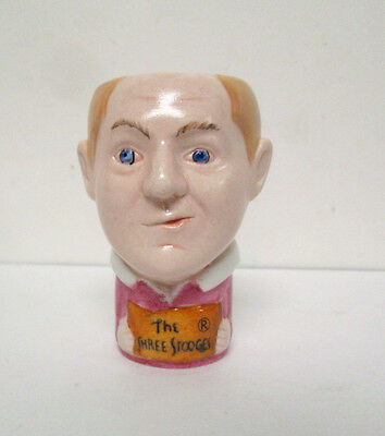 Curly The Three Stooges Ceramic Figure Shot Glass Cup C3 Entertainment 2001