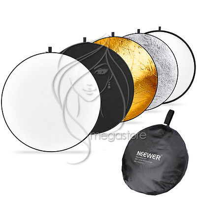 """110cm 43"""" 5in1 Light Multi Photography Photo Studio Collapsible Reflector + Bag"""