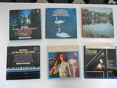 """6 Reel- To - Reel 7"""" Tapes ( Boxed)"""