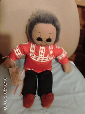 Hand Made Doll In Traditional Choctaw Tribal Dress