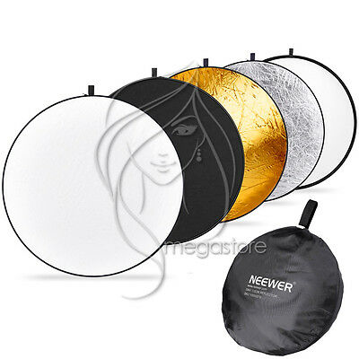 """80cm 32"""" 5in1 Light Multi Photography Photo Studio Collapsible Reflector + Bag"""