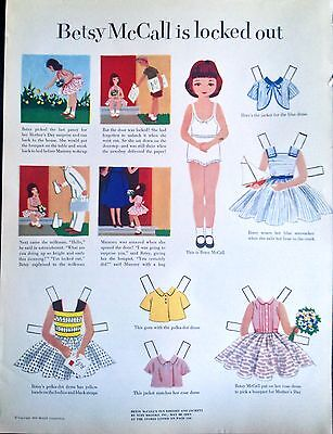 Betsy McCall Mag. Paper Doll, Betsy McCall is Locked Out, May, 1953