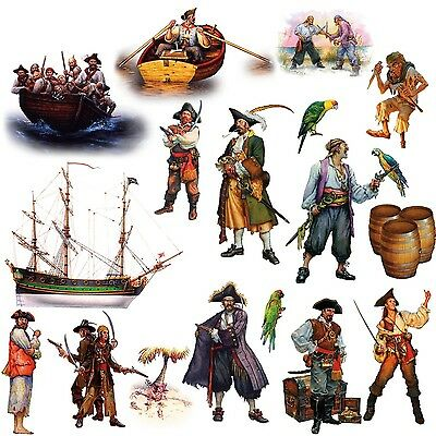 RoomMates RMK1041SCS Pirates Peel and Stick Wall Decals