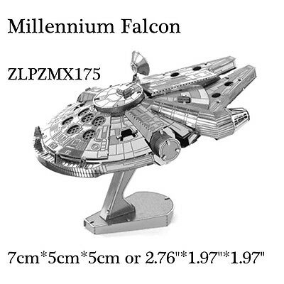 3D METAL PUZZLE Millennium Falconl MODEL EARTH KIT EDUCATIONAL TOY INTELLIGENCE