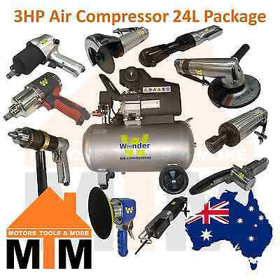 WONDER 3HP 240v Air Compressor Direct Drive 198L/min 24L Tank Packages