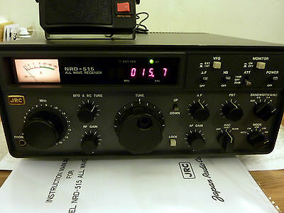 JRC NRD-515 RARE 0-30MHZ Communications Receiver. Very Good used condition.