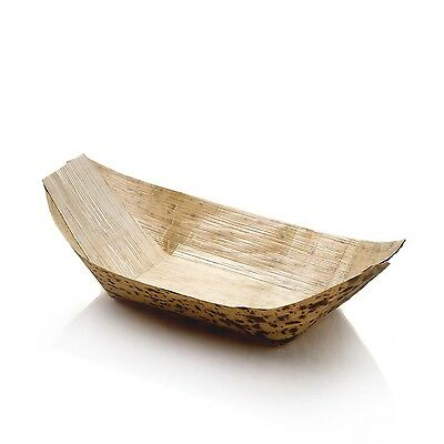 Restaurantware Bamboo Boat Medium 200-Count Box Natural Color 7.25 inches