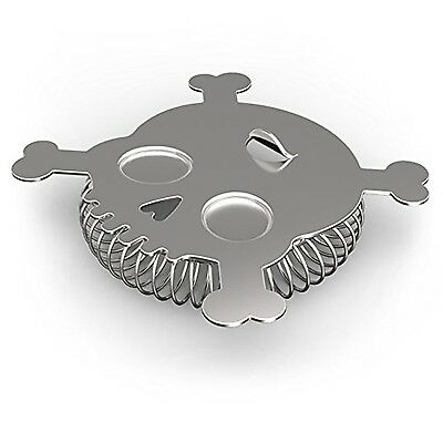 Fred and Friends CA Bar Bones Skull Cocktail Strainer