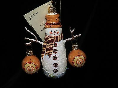 Patricia Breen Jeweled Frosty And Festive Gingerbread Snowman