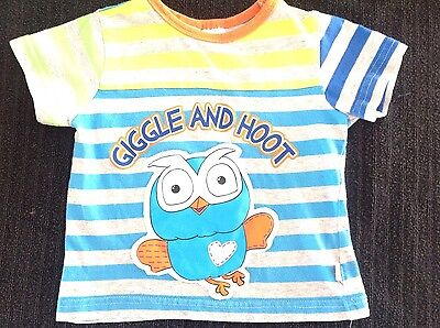 Giggle and Hoot Boys Size 1 Grey T - Shirt Top ����