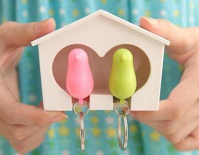 Hot Sparrow Key Ring Gadget Lover Birdhouse 1 Pcs Home Holder Wall Hook Keychain