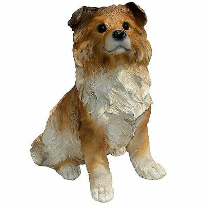 Michael Carr Designs 80107 Sheep-Collie Puppy Statue Large