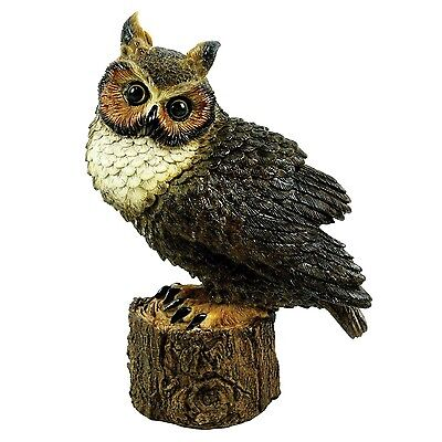 Michael Carr Designs 80053 Great Horned Owl Perched Outdoor Statue