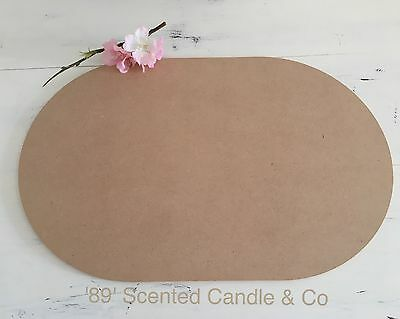 MDF Wooden Cut Out Oval Placemat Paint and Create DIY Craft Plaque  32 cm