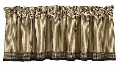 Park Designs Primitive Star Lined Border Valance 72 by 14-Inch