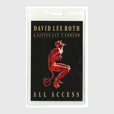 David Lee Roth authentic 1991 tour Laminated Backstage Pass