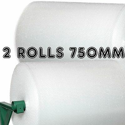 Small Bubble Wrap Size: 2 Rolls of 750mm x 100m